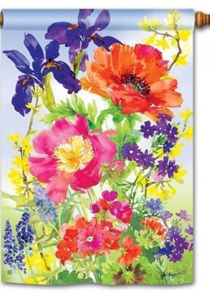 Garden Blooms House Flag | Floral Flags | Spring Flags | Yard Flags