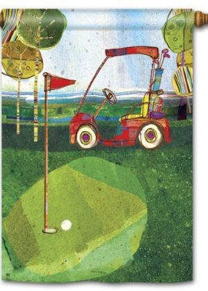 Par for the Course House Flag | Spring Flags | Golf Flags | Yard Flags