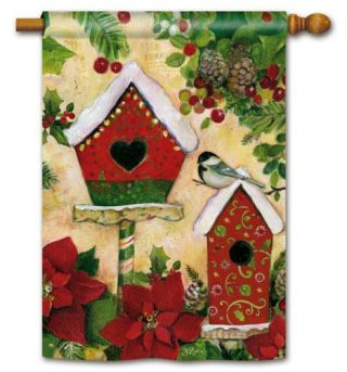 Petite Chalet House Flag | Christmas Flags | Holiday Flags | Yard Flags