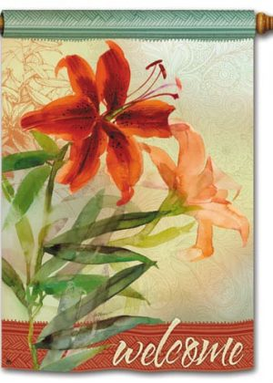 Tiger Lily House Flag | Welcome Flags | Floral Flags | Yard Flag | Cool Flag