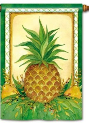Pineapple & Pears House Flag   Winter Flags   Welcome Flags   Cool Flag