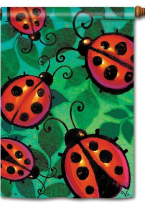 Ladybug Party House Flag | Spring Flag | Summer Flags | Yard Flags