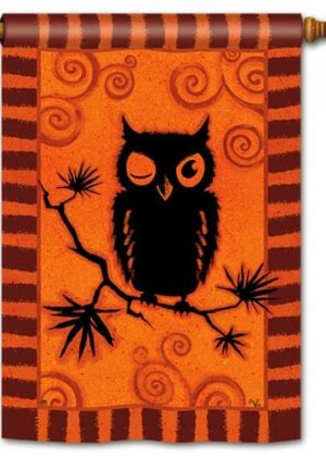 Hoot Owl House Flag | Halloween Flags | Bird Flag | Fall Flags | Yard Flag