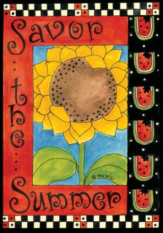 Savor The Summer Flag | Floral Flags | Yard Flags | Inspirational Flags