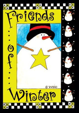 Friends of Winter Flag | Winter Flags | Snowman Flags | Yard Flags