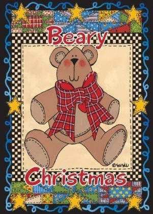 Beary Christmas Flag | Christmas Flags | Holiday Flags | Yard Flags