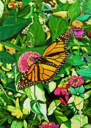 Monarch Butterfly Flag | Yard Flag | Garden Flag | Floral Flag | House Flag