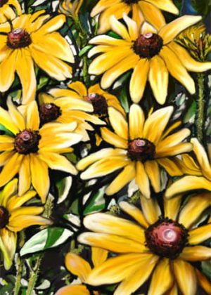 Black Eyed Susans Flag | House Flag | Garden Flag | Garden House Flags