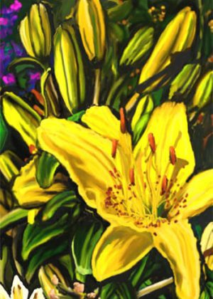 Yellow Day Lilies Flag | Yard Flags | Garden Flags | Floral Flags | Flags