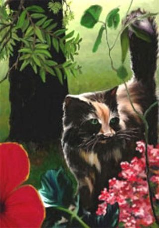 Bandit Kitty Flag | Spring Flags | Animal Flags | Floral Flags | Summer Flag