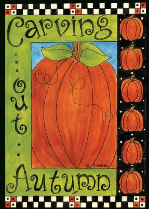 Carving Out Autumn Flag | Fall Flags | Halloween Flags | Yard Flags