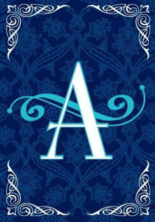 Blue Teal Monogram-A Flag | Monogram Flags | Winter Flags | Yard Flags