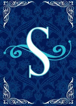 Blue Teal Monogram-S Flag | Monogram Flags | Winter Flags | Yard Flags