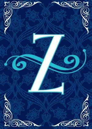 Blue Teal Monogram-Z Flag | Monogram Flags | Winter Flags | Yard Flags