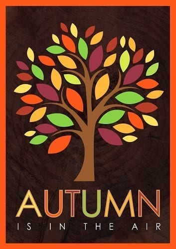 Autumn Tree Flag