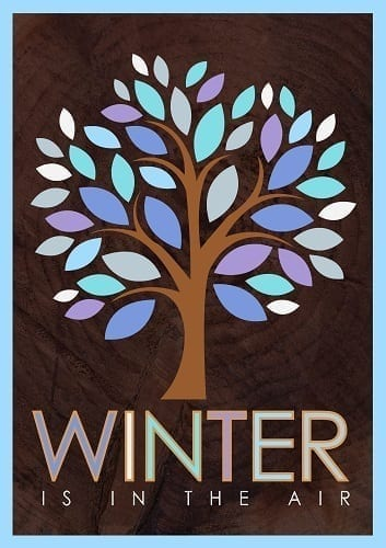 Winter Tree Flag