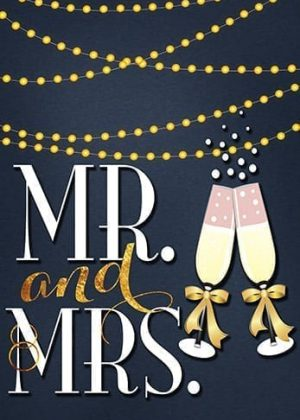 Mr. and Mrs. Twinkle Flag | Yard Flags | Garden Flags | Wedding Flags