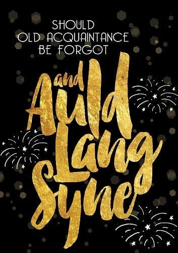 Auld Lang Syne Flag | Garden Flags | House Flags | Garden House Flags
