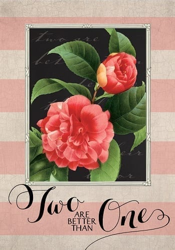 Two Are Better Flag | Decorative House Flags | Garden Flags | Garden House Flags