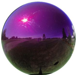 Purple Stainless Steel Gazing Ball | Gazing Balls | Garden House Flags